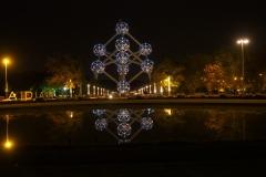 Atomium bei Nacht