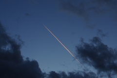 Chemtrails am Abendhimmel